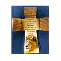 SMALL CROSS PLAQUE : BE STRONG & COURAGE