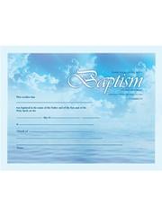 BAPTISM CERTIFICATE SKY