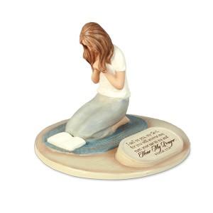 SCULPTURE:DEVOTED TO PRAYER WOMAN