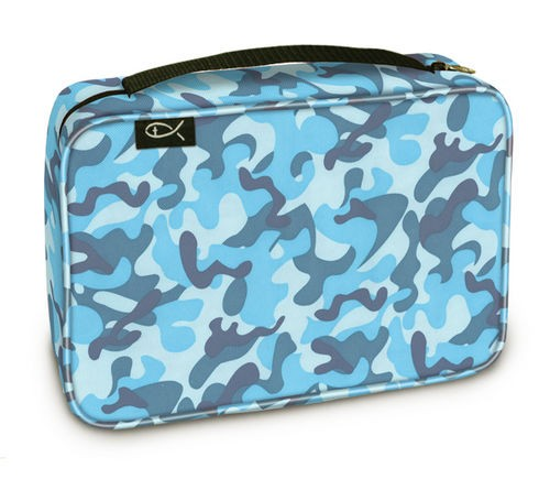 BIBLE COVER: SKY CAMO MED