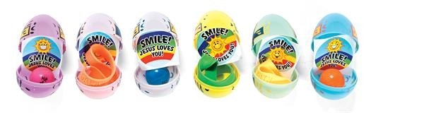 HE LIVES PLASTIC TOY-FILLED EASTER EGGS