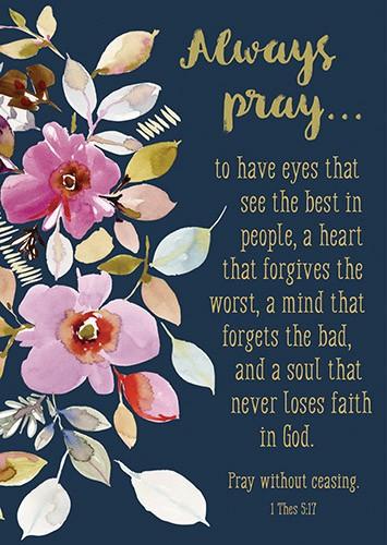 POSTER:ALWAYS PRAY