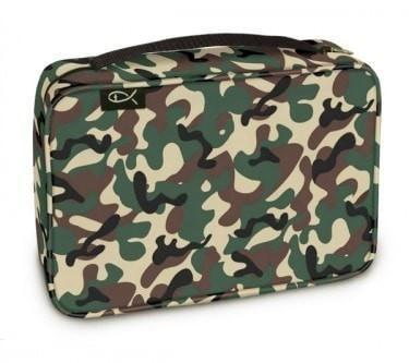 BIBLE COVER: WOODLAND CAMO EX LGE