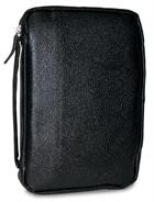 BIBLE COVER BLACK LEATHER COMPACT