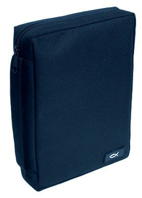 BIBLE COVER NAVY BLUE FISH MEDIUM