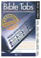 BIBLE TABS: LGE PRINT, BLACK ON WHITE