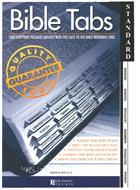 BIBLE TABS: STANDARD BLACK EDGE