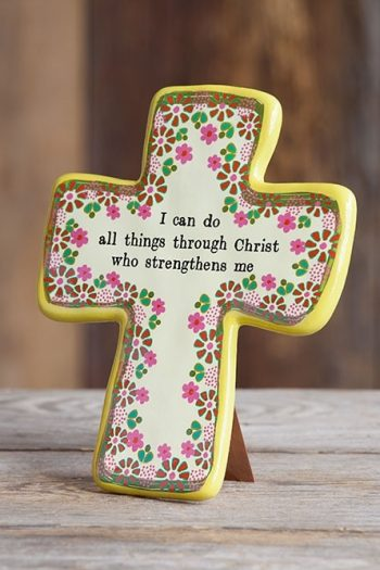 ARTISAN CROSS YELLOW:I CAN DO ALL THINGS