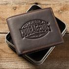 LEATHER WALLET: BE STRONG