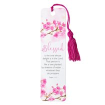 BOOKMARK, TASSEL: BLESSED
