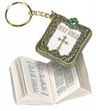 KEYRING: SMALL BIBLE METAL/JEWELS