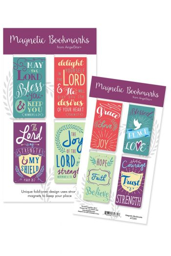 MAGNETIC B/MARK SET OF 4:MAY THE LORD
