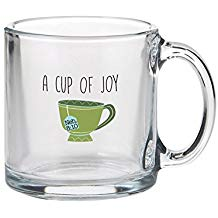GLASS MUG: CUP OF JOY