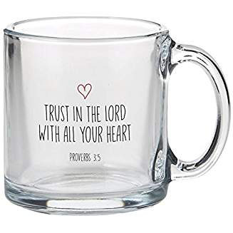 GLASS MUG: TRUST IN THE LORD
