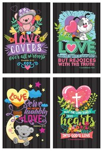 NOTEPAD SET OF 4: LOVE SERIES