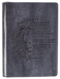 JOURNAL:BE STRONG & COURAGEOUS GREY
