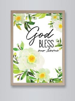 FRAMED PRINT: GOD BLESS