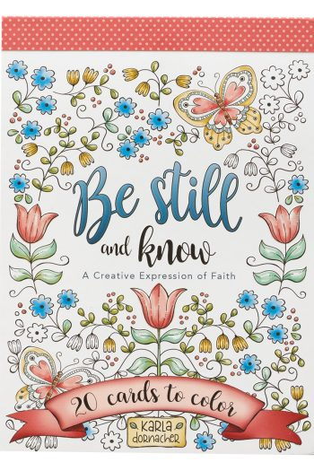 ADULT COLOURING CARDS: BE STILL