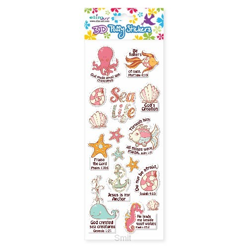 PUFFY STICKERS: SEA CREATURES
