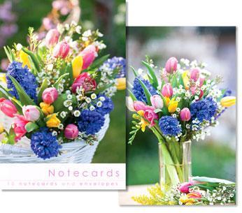 NOTECARDS:VASE OF FLOWERS