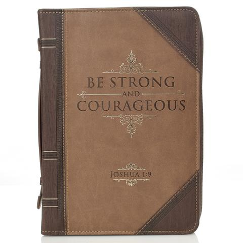 BIBLE COVER: STRONG & COURAGEOUS MED