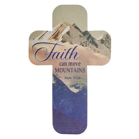 CROSS BOOKMARK:FAITH CAN MOVE MOUNTAINS