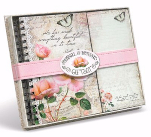 JOURNAL & LISTPAD GIFTSET: VINTAGE ROSE