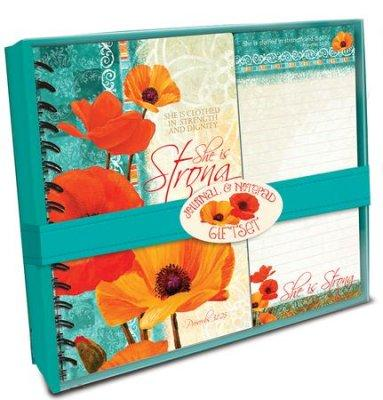 JOURNAL & NOTEPAD GIFTSET: SHE IS STRONG
