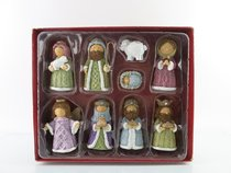 RESIN KNITTED FINISH NATIVITY SET