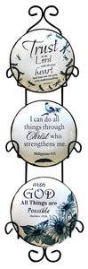 CERAMIC PLATE SET OF 3: TRUST  THE LORD