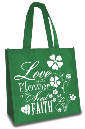 TOTE BAG: LOVE IS THE FLOWER