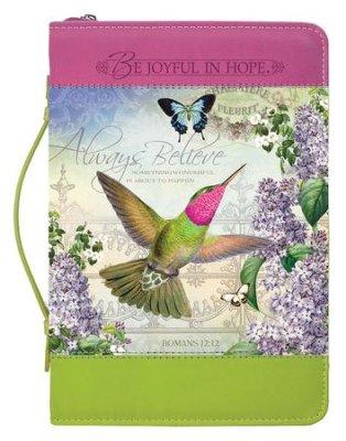 BIBLE COVER: HUMMING BIRD LGE