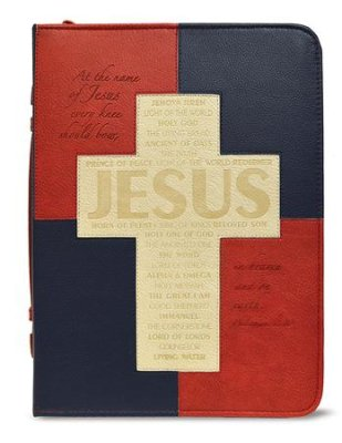 BIBLE COVER: AT THE NAME LARGE
