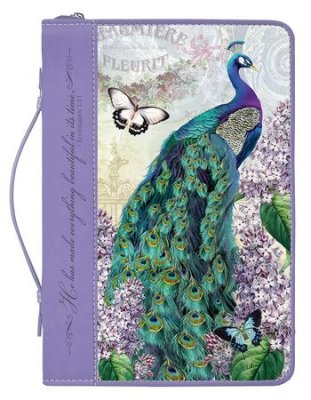 BIBLE COVER: PEACOCK SMALL