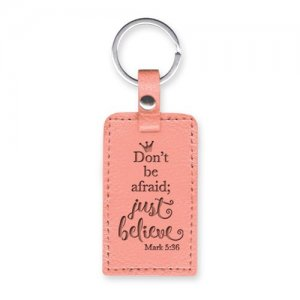 LUX LEATHER KEYRING: DON'T BE AFRAID