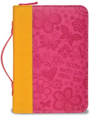 BIBLE COVER:PINK BLOOM XLARGE