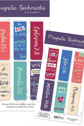 MAGNETIC BOOKMARK SET OF 6: WITH GOD ALL
