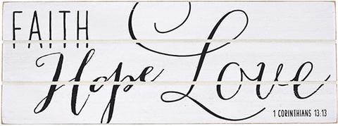 GIFT PLAQUE – FAITH HOPE LOVE