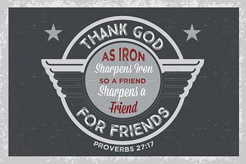 POSTER SMALL: IRON SHARPENS IRON