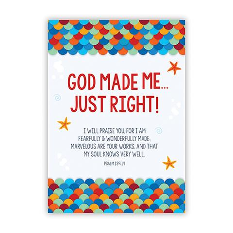 POSTER LGE: GOD MADE ME JUST RIGHT