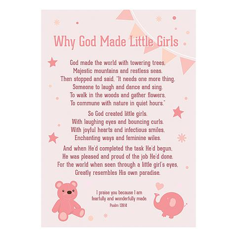 POSTER LGE: WHY GOD MADE LITTLE GIRLS