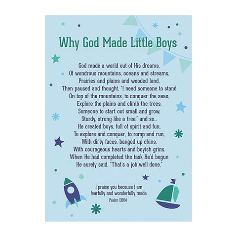 POSTER LGE: WHY GOD MADE LITTLE BOYS
