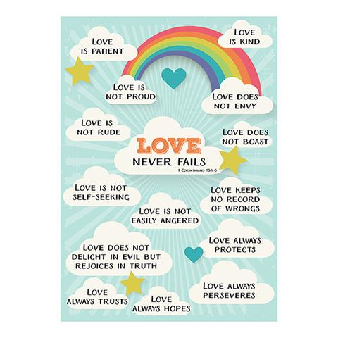 POSTER LGE: LOVE NEVER FAILS