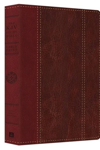 KJV STUDY BIBLE L/P BROWN/BURGUNDY