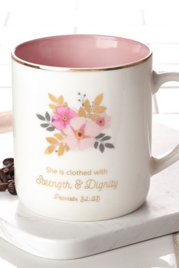 CERAMIC MUG: STRENGTH AND DIGNITY