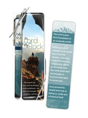 LORD IS MY ROCK, THE: PEN & BOOKMARK SET