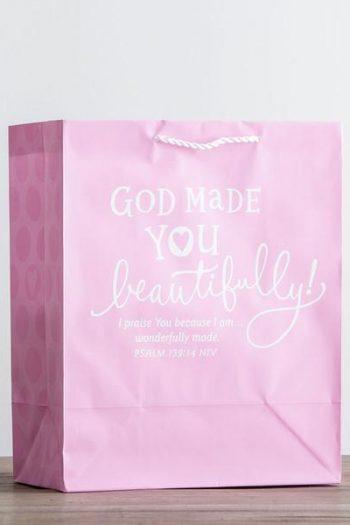 GIFT BAG:GOD MADE YOU BEAUTIFULLY PINK