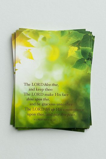 BLANK NOTE CARDS: THE LORD BLESS THEE