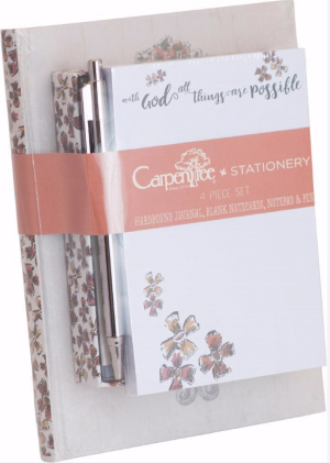 4 PIECE STATIONERY SET: WITH GOD