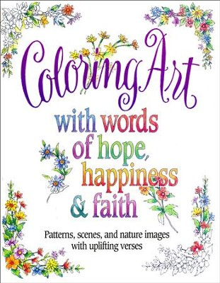 COLOURING ART WITH WORDS OF HOPE
